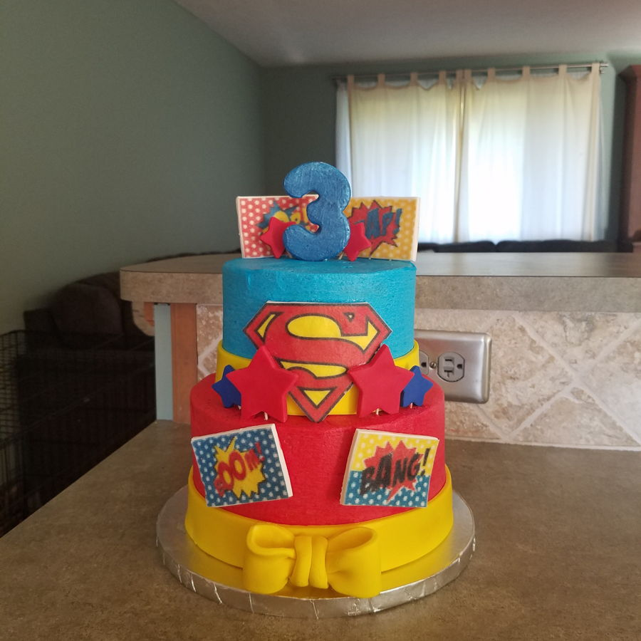 Terrific Supergirl Birthday Cake Cakecentral Com Funny Birthday Cards Online Elaedamsfinfo