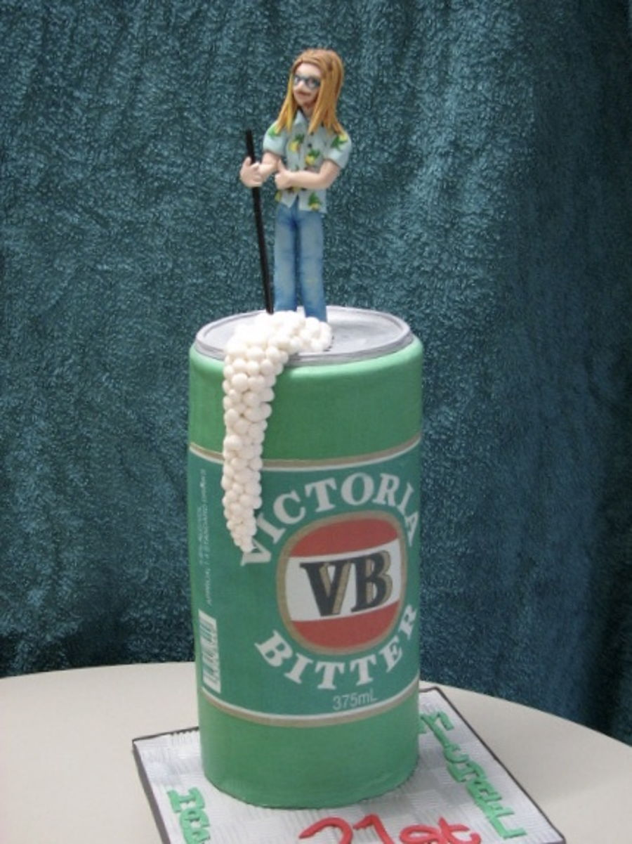 Remarkable Vb Beer Can Cakecentral Com Funny Birthday Cards Online Alyptdamsfinfo