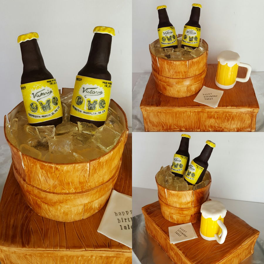 Beer Two Layer Cake