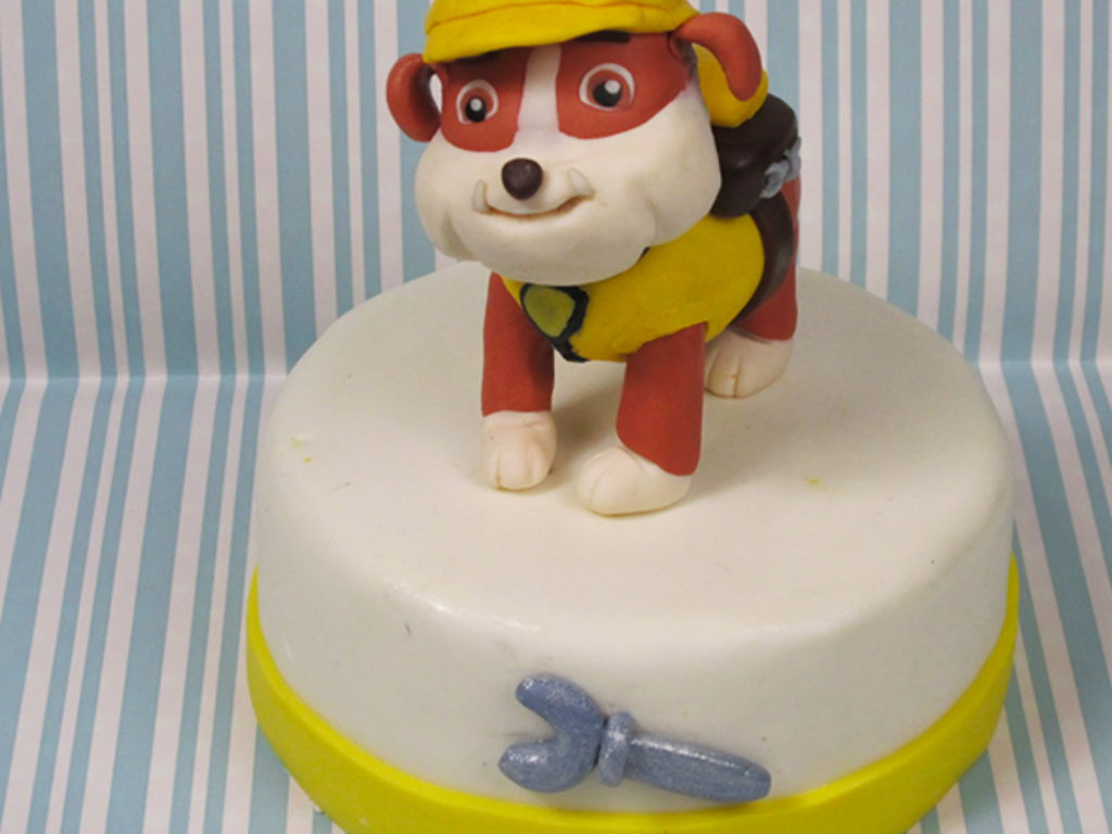Rubble From Paw Patrol Cake Topper