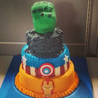 Avengers My work does themed days every month and they decided to have a marvel theme day. They asked for an avengers cake this is what I came up...