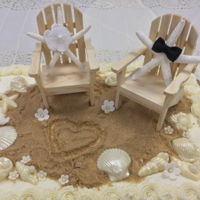 Beach Wedding Shower Cake Celebrating a Destination Wedding!
