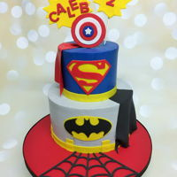Caleb's 2Nd   Super Hero themed 2nd bday