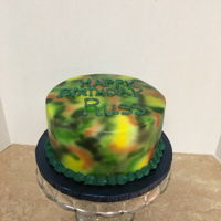 Camouflage Birthday Cake Camouflage was airbrushed on