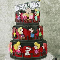 Charlie Brown Goes To The Movies - Cake Con Collaboration I was so honoured to be invited to form part of this awesome collaborations together with 22 amazing artists who created sugar art inspired...