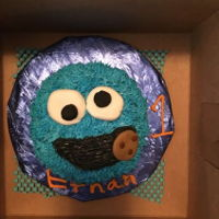 Cookie Monster Smash Cake 6 inch round smash cake