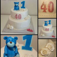 Custom Cake   Cake for first & 40th birthday and wedding.