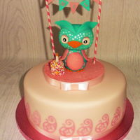 Cute Owl Birthday Cake Cute Owl Birthday cake