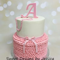 Dale's Shower   Buttercream ruffle baby shower cake