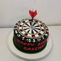 Darts Cake   Birthday cake for a dart player