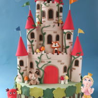 Enchanted Castle Cake Absolutely loved making this! The brief was for a princess castle with woodland creatures, so we went with an enchanted castle theme.