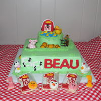 Farm 1St Bday For Beau   Farm Cake & Smash