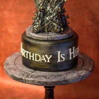 Games Of Thrones Birthday Cake Totally Edible 8 inch Tall Throne Chair Topper with a Cookie Base.