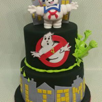 Ghostbusters Decor made of fondant