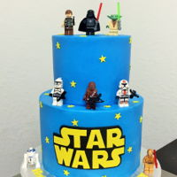 Ian's 4Th   Lego Star Wars themed cake