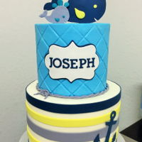 Joseph's Shower   Baby shower cake to match bedding.