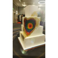 Lgbt Geode Wedding Cake My take on the geode cake trend. Made for the LGBT wedding expo, I loved making this rainbow geode.