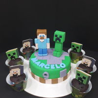Minecraft Cake A minecraft cake for my 9 years old son