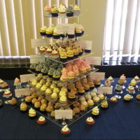 Mini Cupcake 6-Tier Variety Tower 10 different flavor combos for a friend's retirement party. She picked a couple and gave me free rein on the rest (whoo hoo!), which...
