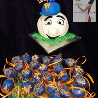 Mr. Met Mr, Met Cake VanillaMet CakePops Vanilla and Chocolate