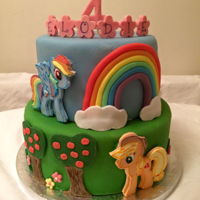 My Little Pony Cake My little pony cake with handcut fondant characters