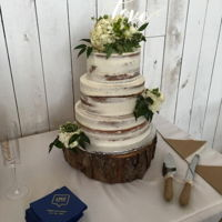Naked Cake Buttercream over Champagne cake