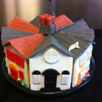 Nhw Street Cake Made for a Neighbourhood watch annual meeting. Outer roof and house frontage plaques were made from cmc strengthened fondant, dried before...
