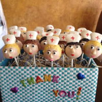 Nurse Theme Cake Pops cake pops to say thank you to my mother's nurses during her care