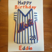 Ny Mets Mets jersey with fondant decoration