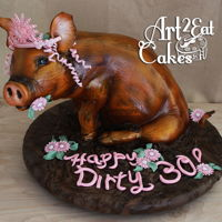 "Pork Princess Dirty 30 Pork Princess Dirty 30 - 2/8/15 - Happy Dirty 30 Birthday!! I love it when clients know what they want! This ""Pork Princess"" was..."