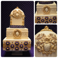 Purple Roccoco Wedding Cake Featured in CC magazine vol 6 iss 1