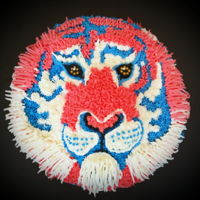 Red White And Roar Cake For 4Th Of July Vanilla tricolor with pineapple creamcheese filling