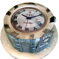 Rolex Watch 30Th Birthday Cake Fondant and gumpaste used to create this cake.