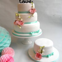 Romantic Wedding Cake Romantic wedding cake with peonies