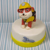 Rubble From Paw Patrol Cake Topper Hi Sweeties,Lots of people asked me to make Rubble from Paw Patrol out of fondant...Hope you like it...XOXO