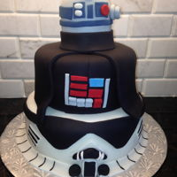 Star Wars Cake Made for a friends 30th birthday