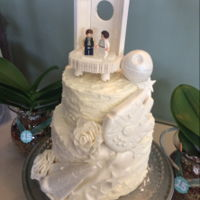 Star Wars Wedding My husband and I renewed our vows for our 15 th anniversary. I made the cake and he built the topper out of Lego. He is a huge Star Wars...