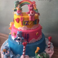 The Care Bears This Care Bear cake, is one of the most coolest cakes i have made so far. I was asked to make a cake with lots of colors and with a care...