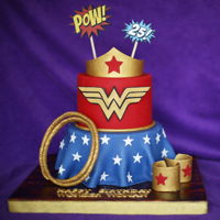 Wonder Woman Cake All edible almond and chocolate Wonder Woman cake