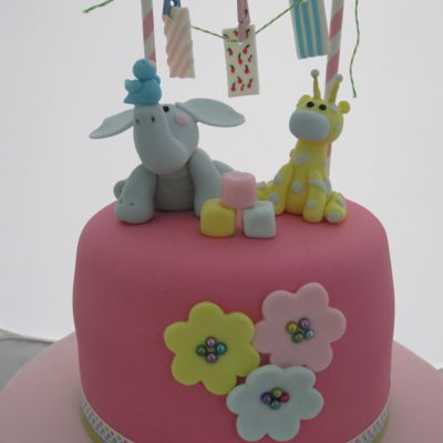 Cute Little Baby Shower Cake