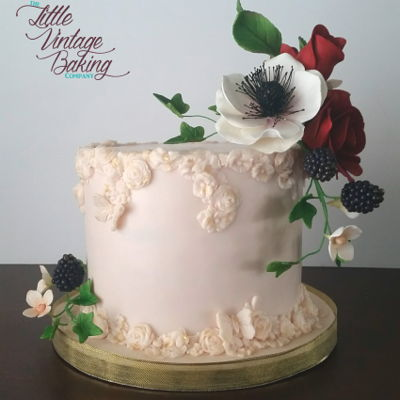 Floral Bas Relief Cake