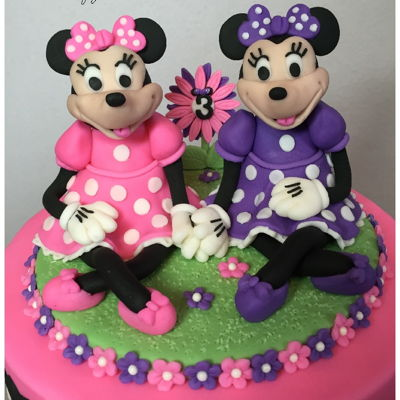 Minnie Mouse Cupcake Tower For Twins