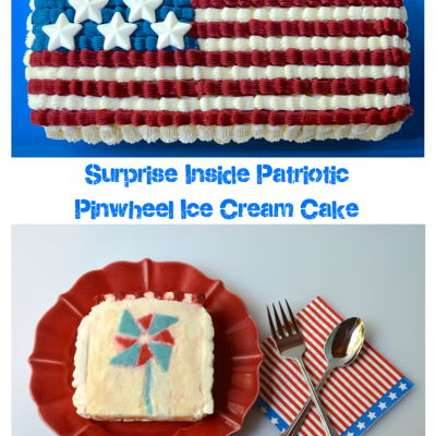 Surprise Inside Patriotic Pinwheel Ice Cream Cake