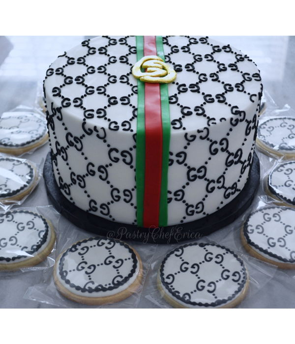 Cake Inspired By Gucci - Hand Piped