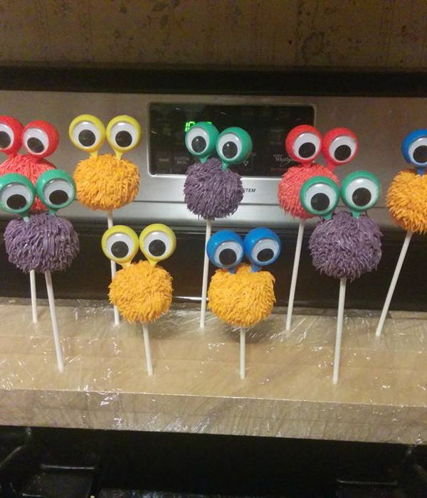 Monster Ring Cake Pops