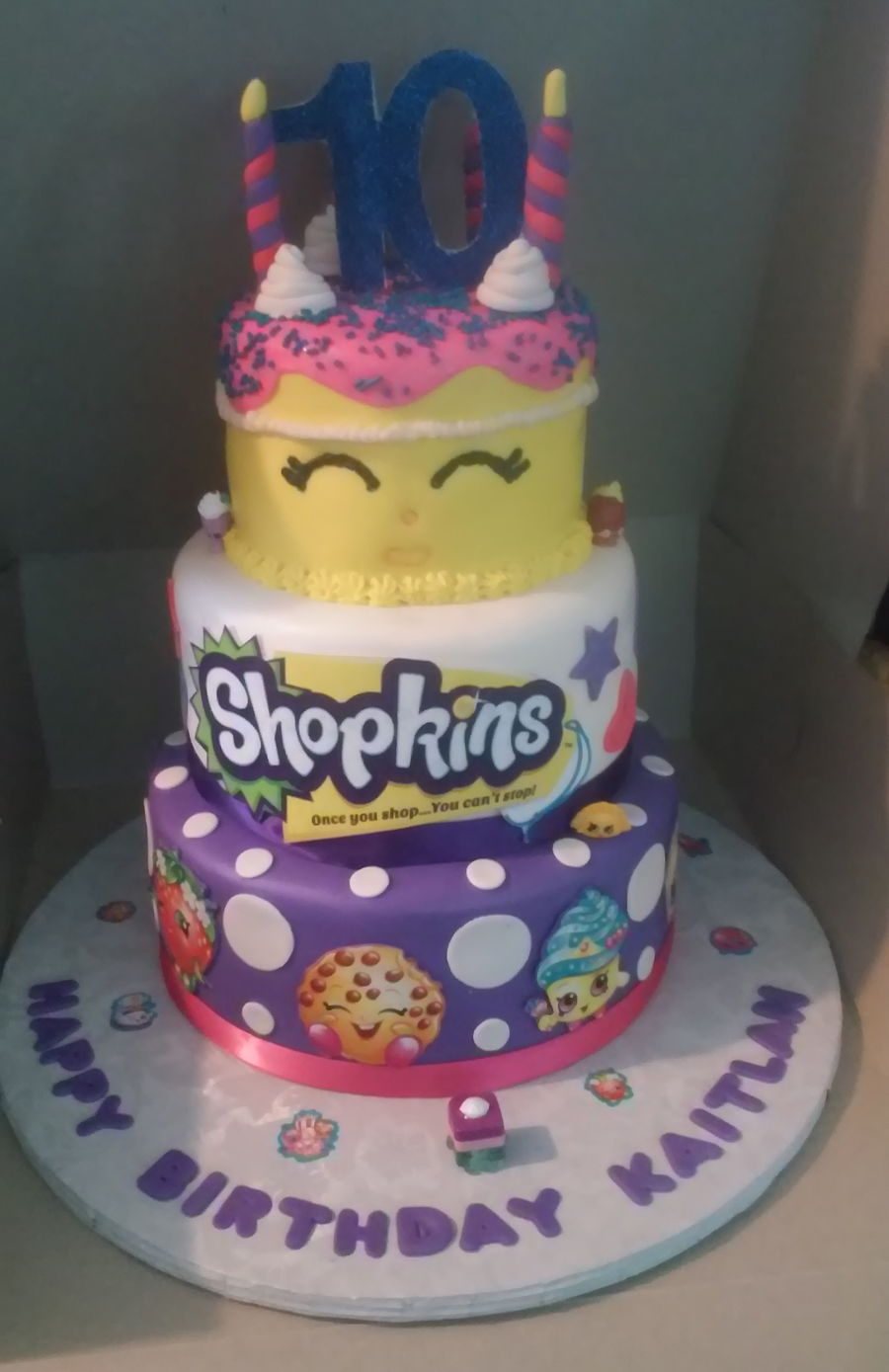3 Tier Shopkins With wishes Themed Birthday Cake CakeCentralcom
