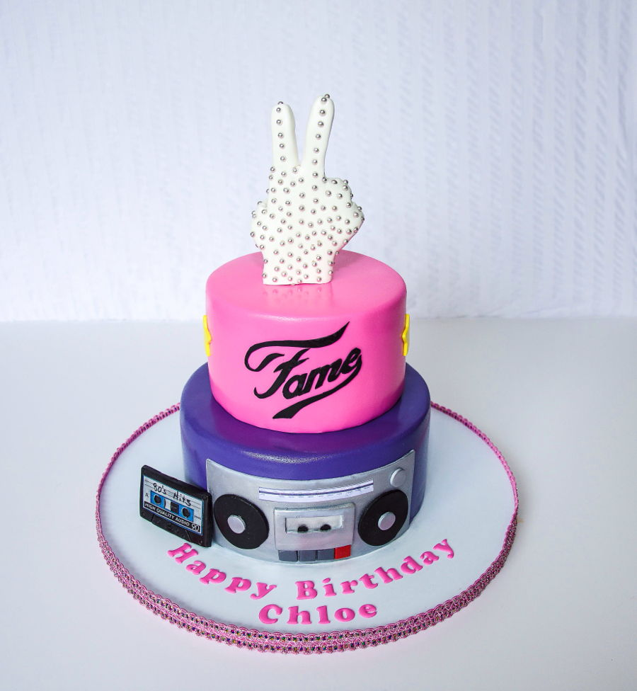 Tremendous 80S Theme Birthday Cake Cakecentral Com Funny Birthday Cards Online Barepcheapnameinfo