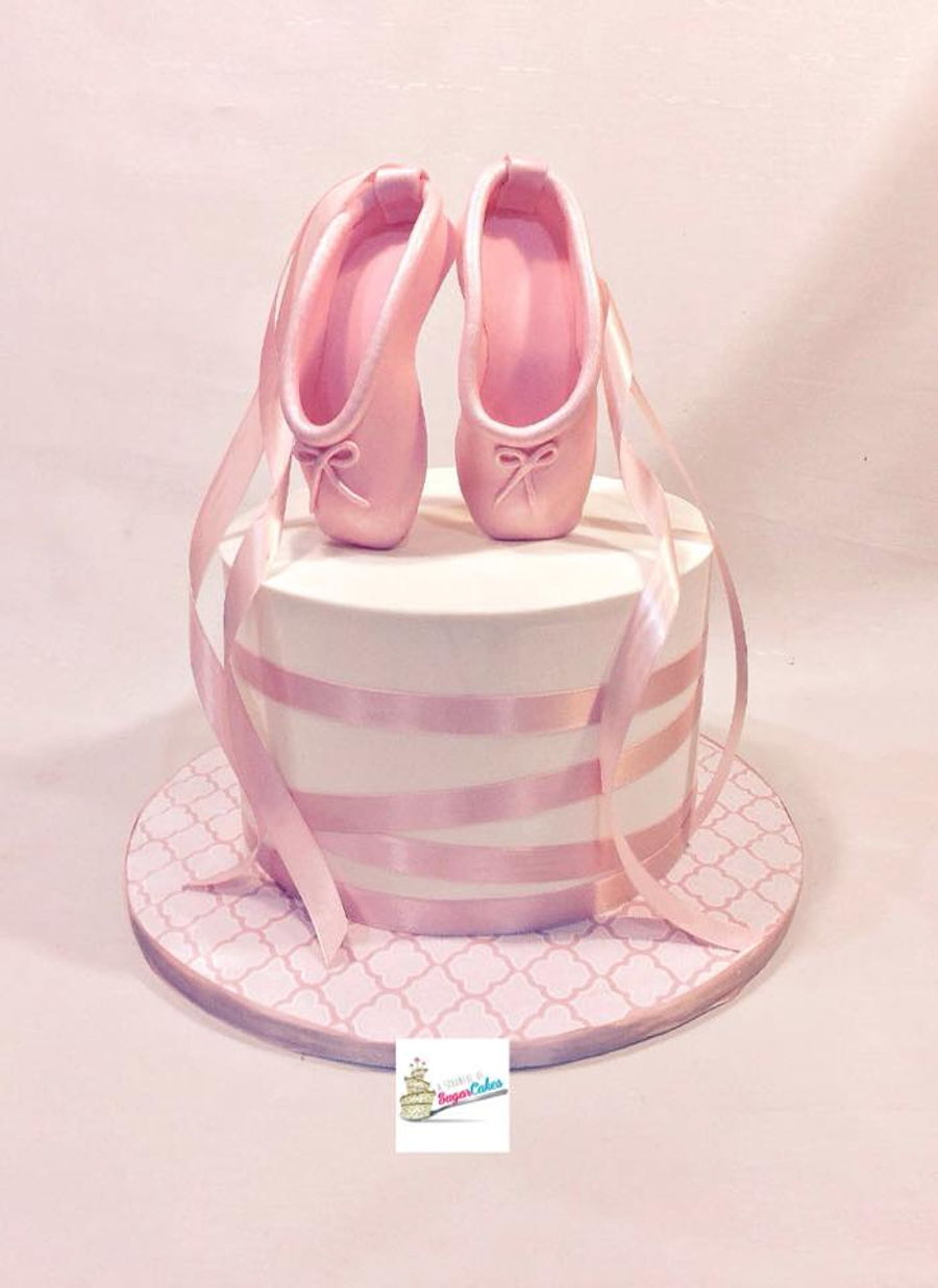 Cake Decorating Ballet Shoes
