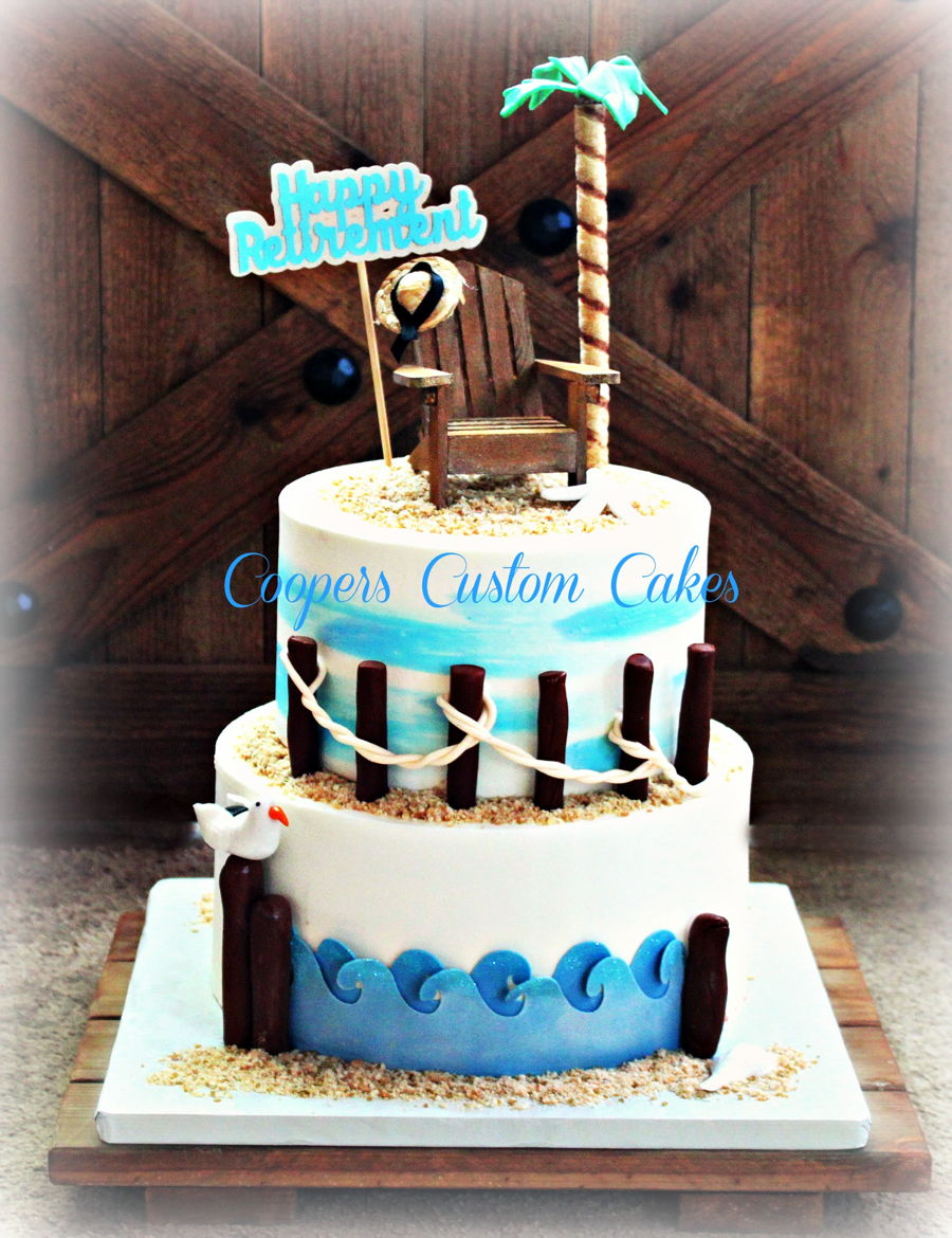 Beach Retirement Cake Cakecentral Com