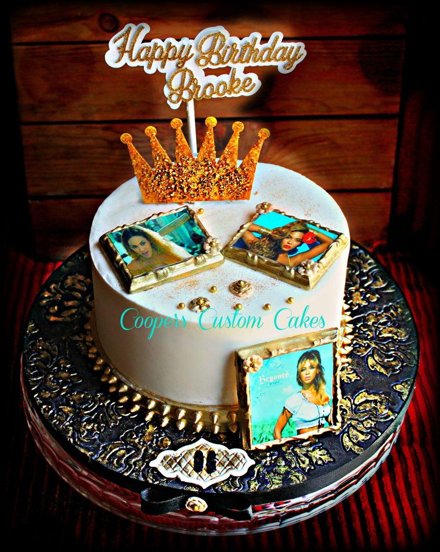 Admirable Beyonce Birthday Cake Cakecentral Com Personalised Birthday Cards Veneteletsinfo